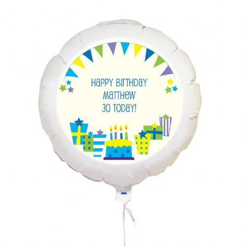 Personalised Blue Presents Balloon